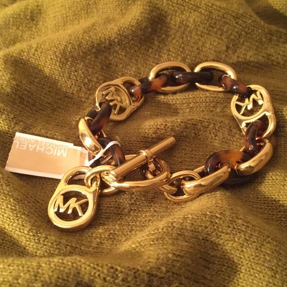 59a976f70c3c0 {Michael Kors} Tortoise Link Bracelet NWT